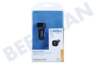 Cambridge sciences 22872  Cargador de coche Duo USB 1.2A + 1.2A Teléfono inteligente y tableta