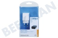 Spez 200912056  Dual USB Home Charger 2.1A, Blanco USB universal