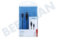 Qware 10181 Mini cable USB 100cm negro Mini USB