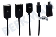 Point Of View 22520  Cable OTG Micro USB (M) a 2x USB A y 1 x Micro USB (F) Mini USB Micro USB y