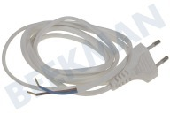 Q-Link 5421000  Cable 2x0,75mm2 600W 1,8M blanco Cable de alimentación con enchufe europeo