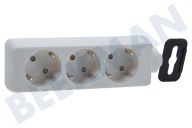 Exin 5520201  Regleta enchufes Blanco 3600W 16A RA Socket Tabla 3v sin cable