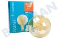 Osram 4058075208599  Smart + Filament Gold Globe Lamp E27 Regulable E27 5.5 vatios, 600lm 2500K