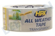 HPX  AT4825 All Weather cinta transparente 48mm x 25m adecuado para entre otros Reparación de sellado de cinta, 48 mm x 25 metros