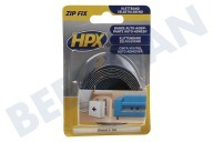 HPX  ZF2001 Fix Zip Velcro gancho + Loop longitud de 20 mm 1 metro adecuado para entre otros Fix Zip, 20mm, 1 metro de largo