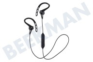 JVC HAEC20BTBE HA-EC20BT-BE  Auriculares inalámbricos In Ear Sport con Earclip Black Negro, Bluetooth