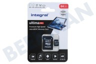 Integral INMSDX64G-100/70V30  UltimaPro High Speed Micro SDXC Class 10 64GB Tarjeta micro SDHC de 64 GB
