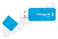 Integral INFD16GBNEONB  Memory stick Unidad flash USB de 16 GB de neón azul USB 2.0