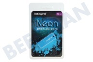 Integral INFD32GBNEONB  Memory stick Unidad flash USB de 32 GB de neón azul USB 2.0