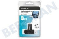 Integral INCRUSB3.0ACSDMSD Interfaz dual USB 3.1 SD y lector de tarjetas microSD Doble interfaz USB 3.1