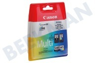 Canon 1713986  Cartucho de tinta PG 540 Negro 541 CL color Multipack Pixma MG2150, MG3150, MX375