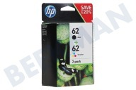HP Hewlett-Packard HP-N9J71AE  HP 62 Combo Pack N9J71AE Officejet 5740, 5640 Envidia