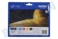 Brother LC1100VALBP  Cartucho de tinta LC 1100 Multipack MFC490CW, MFCJ615W, MFC790C