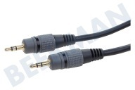 Point Of View BMG201  Jack Cable 2x 3.5mm estéreo macho, 1.2 metros, 1,2 metros, negro,