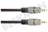 Point Of View BMG204  Jack Cable 2x 3,5 mm estéreo macho, 10,0 metros, Dorado 10.0 Gauge, Negro, Oro
